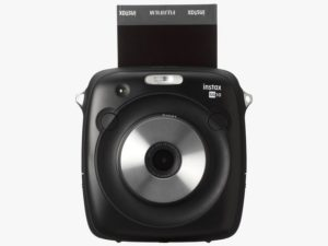 Fujifilm Instax Square SQ10 facing square to the camera.
