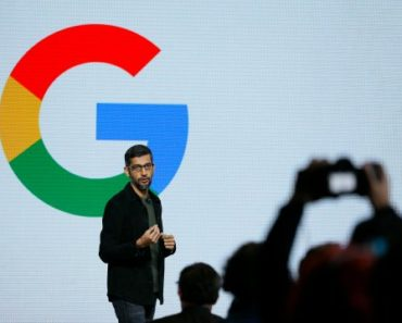 Google CEO Sundar Pichai Giving Speech