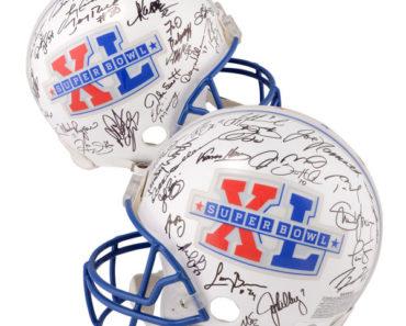 Super Bowl XL MVP Autographed helmet
